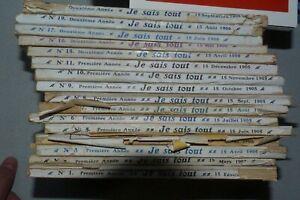 je sais tout lot de 16 livres , Arsene Lupin , spécial noël Benjamin Rabier 1905