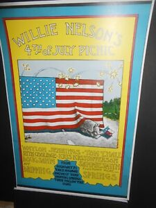 1973 WILLIE NELSON First EVER 4th of July Picnic Poster
