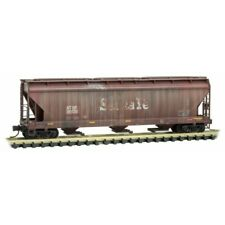 MTL Micro-Trains 09454104 3-Bay Covered Hopper WEATHERED/Graffiti ATSF #315135