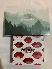 Lot Of 2 Target Beauty Boxes Mens Dopp Kit Gillette Razor Pucker up Box Lipstick