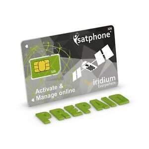 🔥 Iridium PREPAID SIM card for Satellite Phone