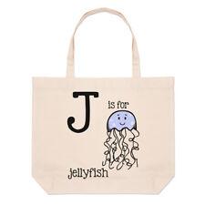 Lettera J è per Medusa Grande borsa con manico da Spiaggia - Alfabeto