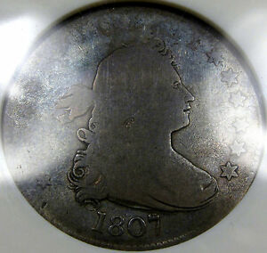 1807 Draped Bust Quarter Choice ANACS G-4... A very Pleasing Original Coin, NICE