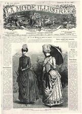 PATRON COUTURE ANCIEN : LA MODE ILLUSTREE, n°26/1887, Modèles dans l'annonce