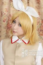 Vocaloid Kagamine Magnet Rin Len Anime Cosplay Costume Wig (No Headband) +Cap