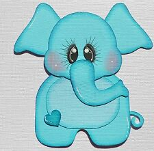 Baby Boy Elephant, Paper Piecing for Premade Scrapbook Page Layout Zoo Safari