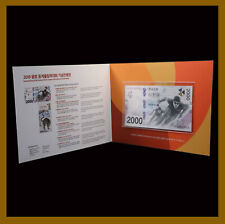 South Korea 2000 Won (With Folder), 2018 P-58 New Winter Olympics Tiger Unc