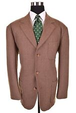 Tommy Hillfiger Brown Tweed Wool Blend Patch Pockets Casual Sport Coat Jacket XL
