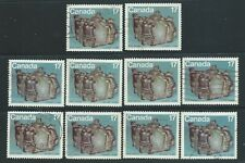 Canada #836(2) 1979 17 cent  INUIT- SHELTER - BUILDING AN IGLOO 10 Used