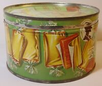 Vtg 1950s BEICH COLORFUL CANDY KITCHEN GRAPHIC KEYWIND TIN BLOOMINGTON ILLINOIS