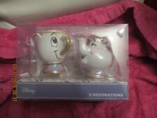 PRIMARK CHRISTMAS BAUBLES DISNEY MRS POTTS AND CHIP NEW