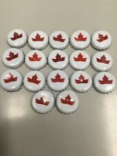 MOLSON CANADIAN LAGER used Beer CROWN Bottle Cap CANADA Lot Of 17 For Crafts
