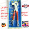 VINTAGE 7 in 1 MULTI-TOOL STAINLESS STEEL  PLIERS HAMMER WIRE CUTTER NAIL PULLER