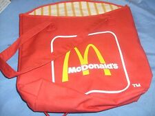 MCDONALDS RARE Original French Fry TOTE BAG 1960s ? Red Vintage bag /  b2