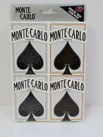 BRAND NEW SEALED Monte Carlo Playing Cards 4 Sealed Decks 2 Red-2 Black