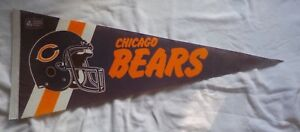 VINTAGE NFL 1990 CHICAGO BEARS FULL SIZE FELT PENNANT RARE NEAR MINT