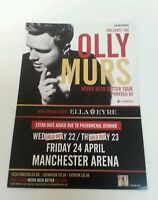 """OLLY MURS - Manchester Flyer 2015 5.12""""X8.2"""" Collectible Perfect For Framing"""