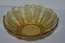 Amber Pressed Glass Dish