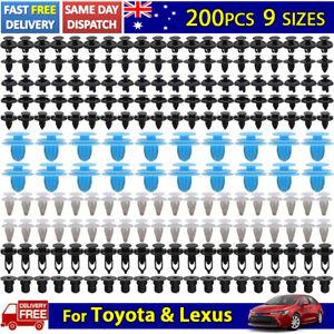 200pcs Car Body Trim Clips Retainer Bumper Rivets Screw Panel Push Fastener