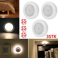 3X Nachtlicht mit Bewegungsmelder Sensor Nachtleuchte Lampe Batterie 3 LED DE
