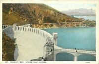 Old DB Postcard AZ K190 Roosevelt Dam Apache Trail Arizona Cancel 1920