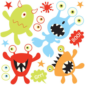 Glow in the Dark Wall Stickers - Monsters