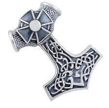 Real masivas 925 plata Thor Hammer remolque Mjolnir colgante Thor Celtica