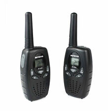 Schwarz Retevis RT628 Kinder-Walkie Talkie UHF 8CH LCD Display PMR 2-Way Radio