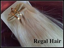 "20""HUMAN WEAVE 100G #60 REAL HUMAN HAIR EXTENSIONS WEFT SEW IN/CLIP IN REMY UK"