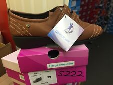 Ladies Light Brown Soft Leather Shoes Size 6