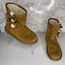 Uggs Youth Size 4 Women Size 5.5 Brown Koolaburra Boots With Bows