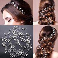 Fashion Pearl Wedding Hair Vine Crystal Bridal Accessories Diamante Headbands