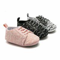 Infant Toddler Baby Boys Girls Prewalker Soft Sole Anti-slip Sneakers Crib Shoes