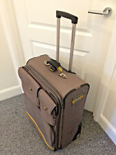 Ralph Lauren Polo Sport Suitcase Large Grey Expandable Luaage Suitcase Wheels
