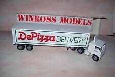 1986 De Pizza Winross Diecast Delivery Trailer Truck DePizza