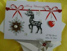 Handmade Personalised 3D Christmas Card / New Year card with GIFT BOX