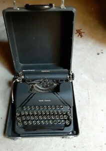 "Vintage 1940's Smith Corona Sterling ""Tuxedo"" Portable Typewriter"