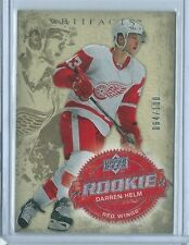 2008-09 UD Artifacts Darren Helm SILVER PARALLEL RC #251 64/100 RED WINGS