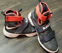 Nike Lebron Soldier X 10 Black Boys Size 7 Basketball 845121-016 Athletic Shoes