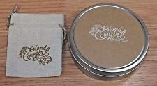 "Genuine Island Cowgirl Jewelry 4"" Inch Round Circular Collectible Tin Container"