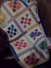 "SCRAPPY, Handmade Lap/Sofa/Child's Quilt/Bed Topper-42.5x55.5"" multicolor"