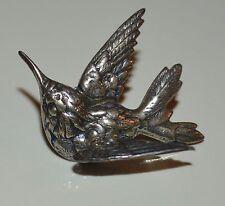 Silver Tone Metal Bird in Flight Tie Tack Lapel Pin Brooch