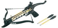 80lbs Pistol Self Cocking Crossbow 3 Arrows Metal New