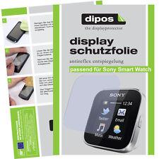 1x Sony SmartWatch Film Protecteur Mat Protection D'écran antiréflectives entièrement Compatible