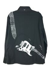 Fender Guitar Custom Shop Men's Black Embroidered Rock & Roll Religion Shirt XL