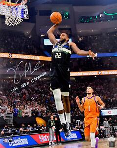 Milw Bucks  KHRIS MIDDLETON Signed 16x20 Photo #2 w/ 2021 NBA Champ AUTO JSA
