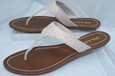 eaea0061cbe3ed PRADA Womens Shoes Ivory Sandals Flats Size 38.5 Leather Thongs