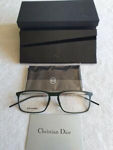 Christian Dior Homme green / silver glasses frames. DIOR 0235 2QU.