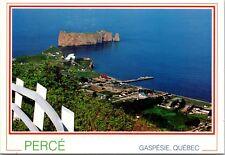 Perce Gaspesie Quebec QC from Mont Saint-Anne c1994 Vintage Postcard D35
