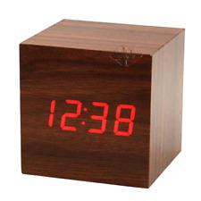 Sveglia Cubo Legno Orologio Da Tavolo Display Led Temperatura hsb